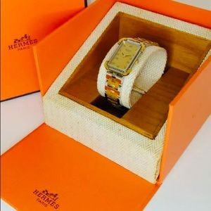 HERMES croazole quartz watch